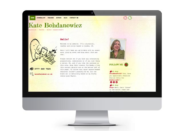 New website for journalist, teacher and writer...