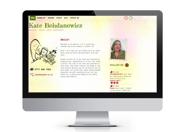 New website for journalist, teacher and writer...