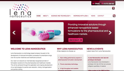 Lena Nanoceutics website development