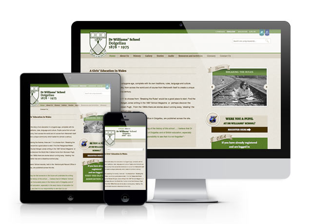 Website for Dr. Williams School, Dolgellau...