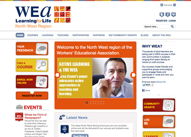 New website for the North West WEA
