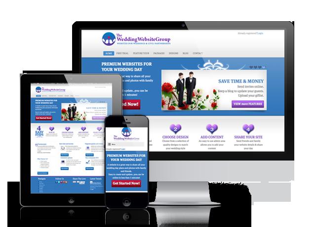Create your own wedding websites